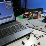 im Brickfilm-Studio (Notebook und Webcam in Action)