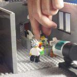 im Brickfilm-Studio (beim Animieren)